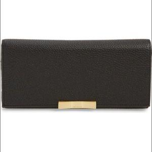 Ted Baker Elodyy Long Leather Wallet Black